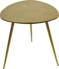 Fraaai Les® Bijzettafel Shine - salontafel - goud - aluminium - 47x47.50x51 cm - 47 cm - driehoek - buiten - tuin
