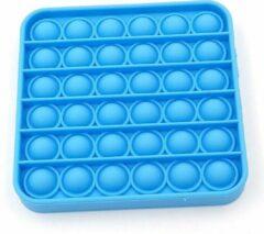 Pop it van By Qubix - Pop it fidget toy - Vierkant - Blauw - fidget toy van hoge kwaliteit!