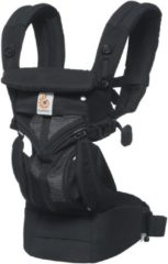 Zwarte Ergobaby Omni 360 - Cool Air Mesh Onyx Black - ergonomische draagzak vanaf geboorte zonder verkleinkussen (alle posities)