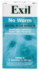 No Worm No Worm Exitel Hond - Anti wormenmiddel - 2 tab Vanaf 0.5 Kg Small