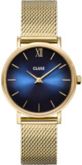 Cluse Minuit Mesh Deep Blue, Gold Colour