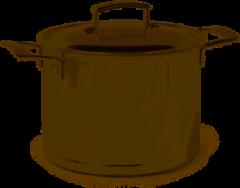 Roestvrijstalen Demeyere Silver soeppan met deksel 24 cm