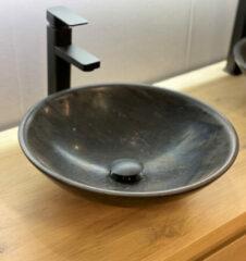 B-Stone Rosie ronde waskom 40cm natuursteen