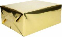 Goudkleurige Shoppartners 6x rollen cadeaupapier goud metallic - 400 x 50 cm - kadopapier / inpakpapier