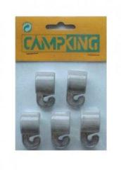 Grijze Campking Umefa Tentclip+haak 19-22 Mm Nylon 5st