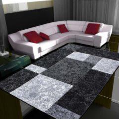 Antraciet-grijze Adana Carpets Modern Vloerkleed Hawaii Zwart 1330 120x170 cm