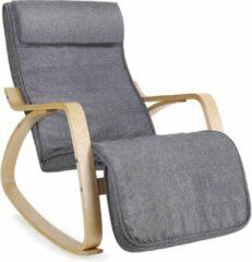 Acaza Schommelstoel ter Relaxatie dankzij 5 Verstelbare Standen - Niet-elektrisch - Tot 150 kg - Grijs