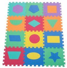 HOMCOM Puzzlematte Kinderspielteppich 12 tlg. abwaschbar Bunt Puzzlematte Baby Spiel-teppich Schaumstoffmatte