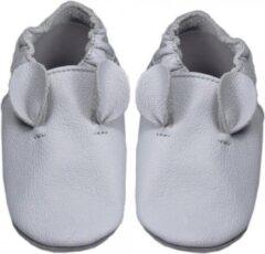 Hobea Babyslofjes grijs met oortjes (Kruip)
