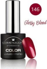 Cosmetics Zone UV/LED Hybrid Gel Nagellak 7ml. Glossy Blood 146