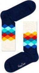 Happy Socks - Faded Diamond Sock - Multifunctionele sokken maat 36-40, blauw/wit