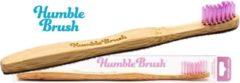 Paarse HUMBLE BRUSH Bambusowa szczoteczka do zębów średnia Fioletowa
