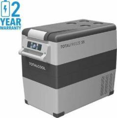 Grijze Totalcool Totalfreeze - 55 - Camping koel/vries box - 12/24/230 V - 45 Watt- fluisterstill