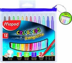Maped Office Color'peps goed uitwasbare viltstift - in ophangbaar kunststof etui met rits x 12