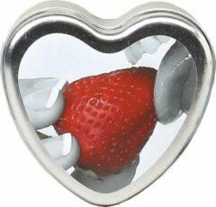 Merkloos / Sans marque Strawberry Edible Massage Candle - 4oz / 113g - Massage Candles - multicolored - Discreet verpakt en bezorgd