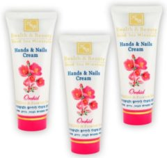 H&B Dead Sea Minerals Hand & Nails Cream | Orchid | with UV filter | 100 ml | Set of 3