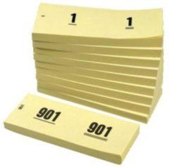 Office Nummerblok 42x105mm nummering 1-1000 geel 10 stuks
