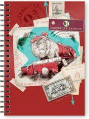 HARRY POTTER - Hogwarts Express Red - A5 Spiral Notebook