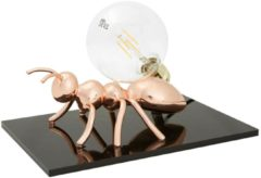 Emporium Lampada da tavolo Antlante 40x40xh20 cm soggetto formica in resina rame