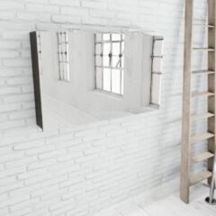 Zaro Beam donker eiken spiegelkast 120x70x16cm 2 deuren
