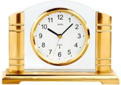 Sonstiges AMS AMS Tischuhr Funk goldfarbenes Metallgehäuse mit geschliffenem Mineralglas