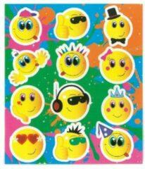 Henbrandt Ltd 12 stuks Uitdeel stickervelletjes SMILY EMOTICON / traktatie cadeautjes / kinderfeestje / kinderverjaardag