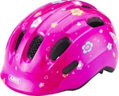 Roze ABUS Smiley 2.0 Fietshelm - Maat S (45-50 cm) - pink butterfly