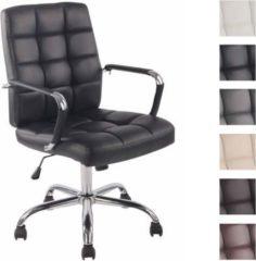 CLP Bürostuhl DELI PRO mit hochwertiger Polsterung und Kunstlederbezug I Schreibtischstuhl mit Metalldrehkreuz I Höhenverstellbarer Chefsessel mit Lei