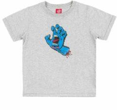 Licht-grijze Santa Cruz Screaming Hand T-Shirt grijs
