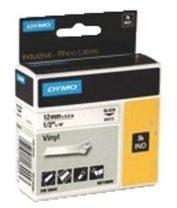 Labeltape DYMO IND RHINO 18445 Vinyl Tapekleur: Wit Tekstkleur:Zwart 19 mm 5.5 m