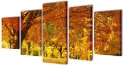 VidaXL Canvas muurdruk print set esdoorn 100 x 50 cm
