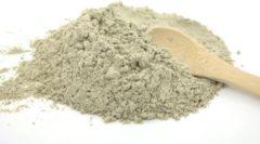 SustOILable Natuurlijk pure Groene klei poeder - illiet (reinigend gezichtsmasker voor vette of onzuivere huid) – los en plasticvrij verpakt 100 gram - vegan