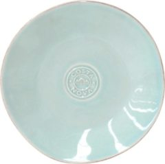 Costa nova - servies - brood bord Nova aqua - aardewerk - set van 6 - rond 16 cm