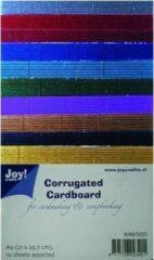 Joy! crafts - Ribbelkarton - Metallic: assorti - 8089/0220