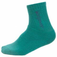 Woolpower - Kids Socks 400 Logo - Multifunctionele sokken maat 19-21 turkoois/olijfgroen/grijs