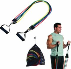 Rode AA Commerce XL Fitness Elastiek Set - Resistance Power Band Tube - Stretch Fitnessbanden / Weerstandskabel