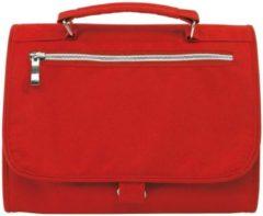Merkloos / Sans marque Luxe toilettas/make-up tas rood 25 cm - Reis toilettassen/etui - Handbagage