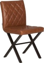 D-Bodhi Eetkamerstoel Alabama, bull recycled leather cognac