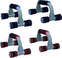 Rode Dunlop Opdruksteun voor Push Ups - 2 sets van 2 - Kracht - Fitness - Spieren