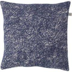 Blauwe Dutch decor kussenhoes fieke 45x45 cm donkerblauw