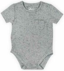 Grijze Jollein Unisex Rompertje - Speckled grey - Maat 74/80