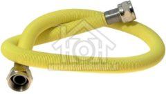 Universeeel Universeel Gasslang RVS gasslang alleen voor inbouw apparatuur 80 cm geel met koppelingen 404702
