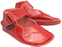 Rode Baby Paws babyslofjes Cindy Rood LAK maat 0 = (9,5 cm)