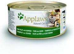 Applaws cat blik adult tuna / seaweed in bouillon kattenvoer 70 gr