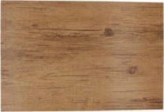 Cosy and Trendy 1x Placemats Lichtbruine Hout Print 45 Cm - Placemats/onderleggers Tafeldecoratie - Tafel Dekken
