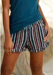 Blauwe S.Oliver RED LABEL Beachwear pyjamashort motief all-over met rimpelrandjes