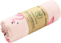 Happy Flute Swaddle doek XL - Flamingo roze