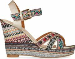 Sacha - Dames - Roze sleehak sandalen met print - Maat 40