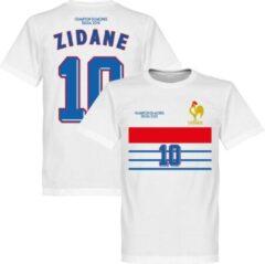 Witte Retake Frankrijk Champions 1998 Retro Away T-Shirt + Zidane 10 - XL