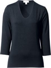 Shirt met V-hals en 3/4-mouwen Van Peter Hahn zwart